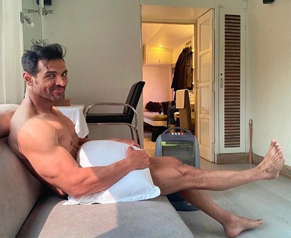 john abraham picture with pillow goes viral