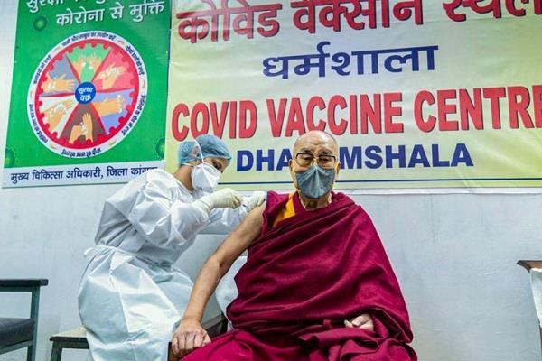 dharamshala dalai lama  corona vaccine