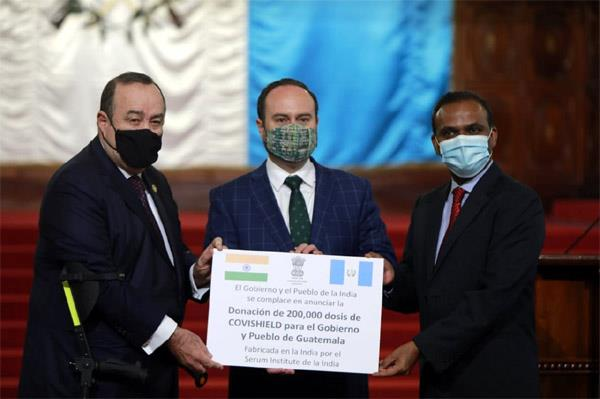 guatemala president thanks india for donating 2 lakh vaccine doses
