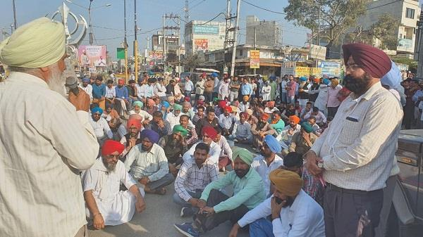 protest by power employees in the city  s sub division
