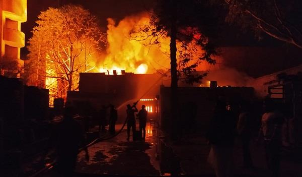 late night fire breaks out at a chemicals factory in malerkotla