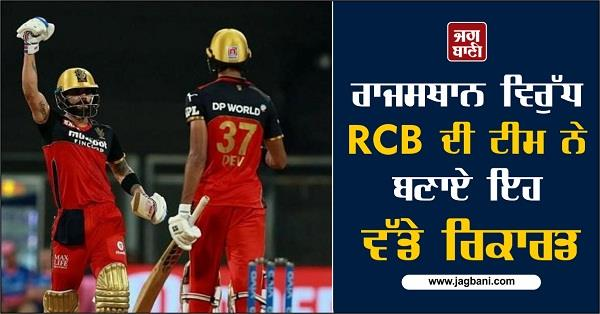 this big record was set by rcb team against rajasthan
