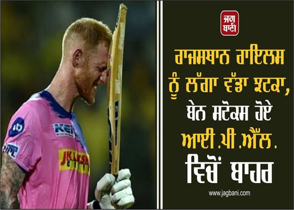 rajasthan royals ben stokes out of ipl 2021