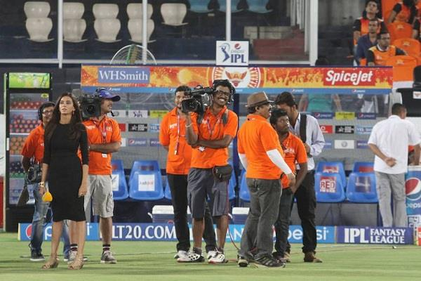 coverage of ipl matches not allowed in stadiums  bcci