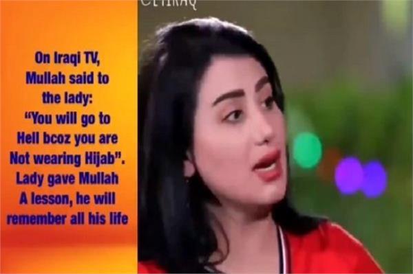 maulana slaps woman on live tv throw a glass full of juice video