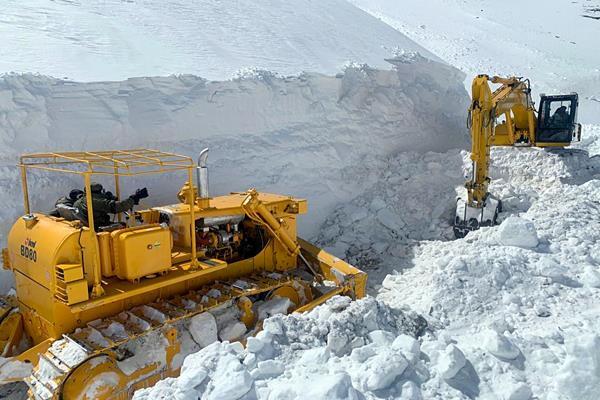 himachal pradesh snowfall 150 trucks transport