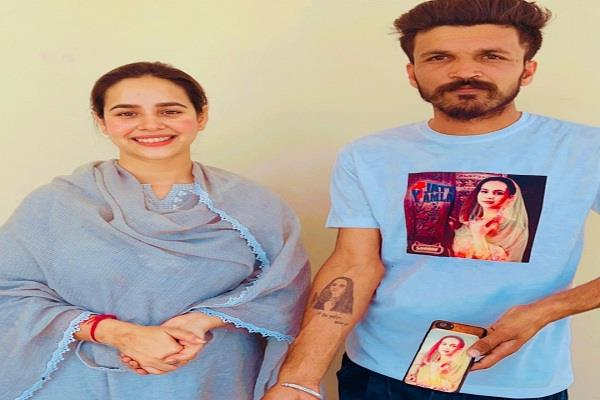 sunanda sharma fan tatto her picture actress posted reaction