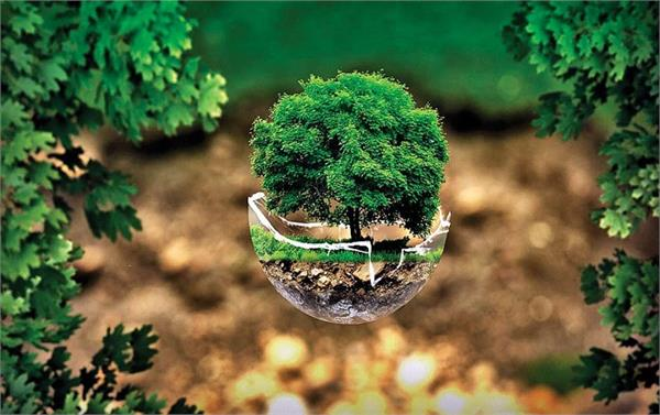 world earth day ozone layer water forest animals decorate