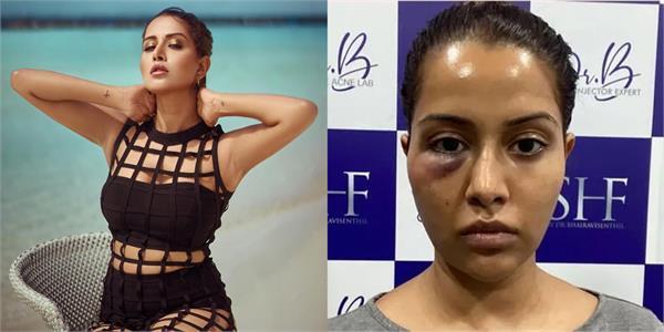 facial reaction on actress face