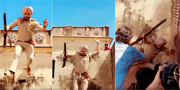 kulwinder billa viral video from film shooting