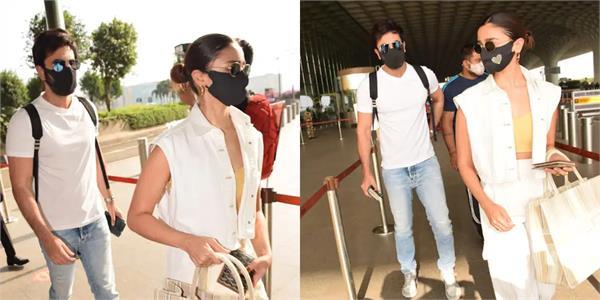 ranbir alia spotted at mumbai airport