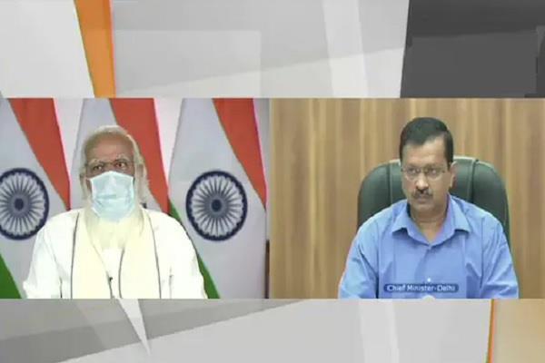arvind kejriwal narendra modi meeting video politics