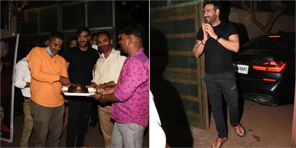 ajay devgn birthday celebration with fans