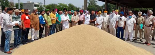 government of punjab  mandis  wheat  bhogpur  procurement