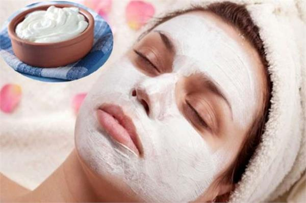 beauty tips  to brighten your face  mix yoghurt with turmeric