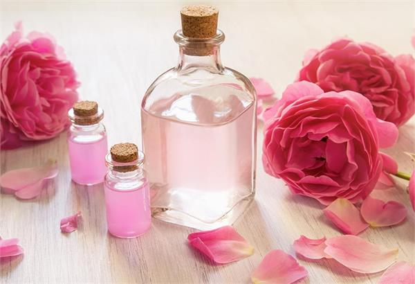 rose water will not only cool the face but also make it beautiful