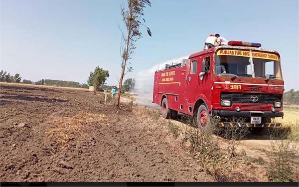 wheat crop fire