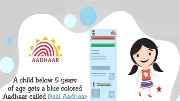 make a blue aadhaar card for children under 5 learn important information