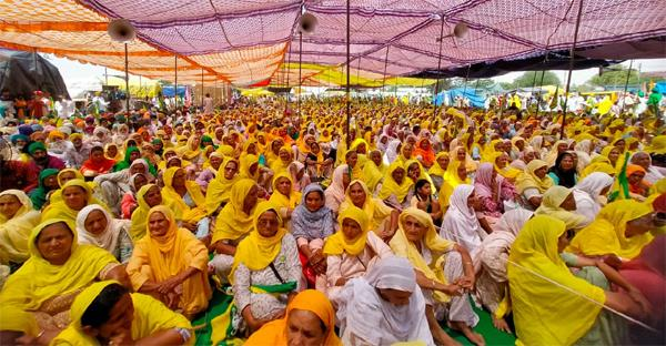 bhawanigarh   a convoy of farmers including thousands of women left for delhi