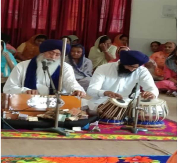 the day of baisakhi was solemnly celebrated at dera girwari sahib