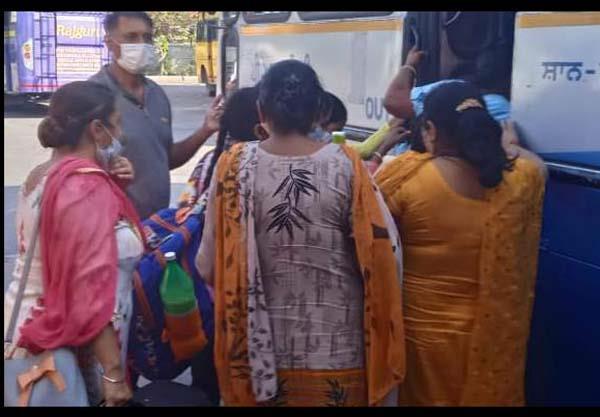jalandhar bus stand alert coronavirus