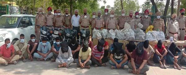 police arrested 27 members of looting gang with great success