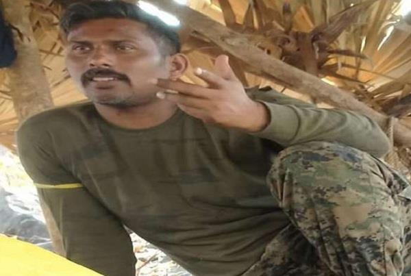 the cobra jawan was brought to bijapur by the crpf after his release