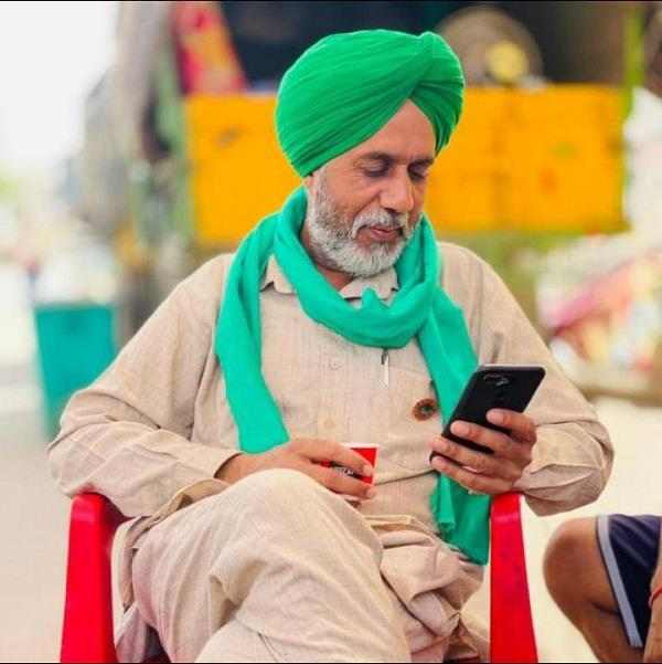 revolutionary kisan union leader protesting for repeal of agriculture law