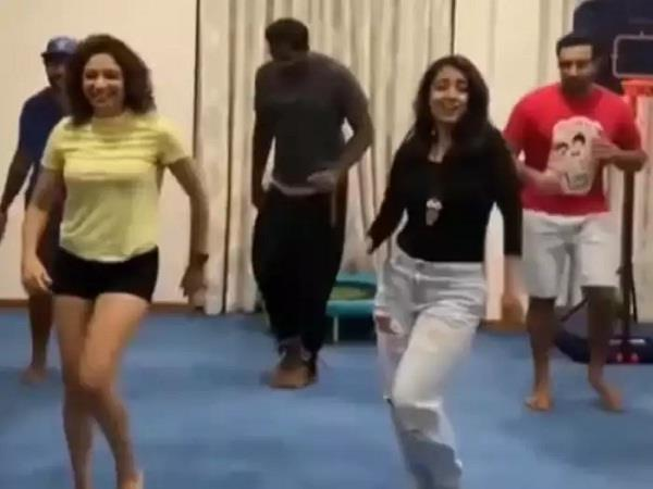 at the request of his wife  robin uthappa showed off his dancing talent