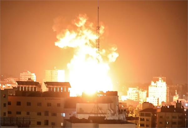 israel fired 54 fighter jets at 35 locations in 20 minutes