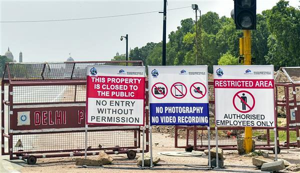 photography  video recording prohibited at central vista construction site