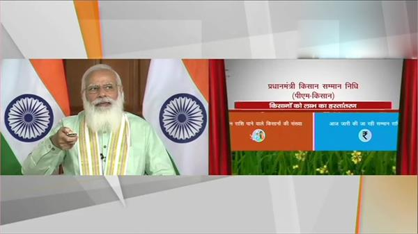 prime minister narendra modi releases the 8th installment