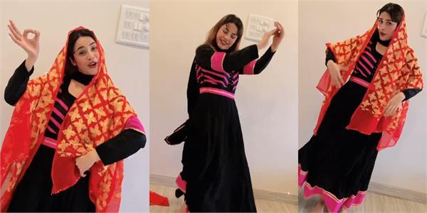 shehnaaz gill giddha on old punjabi song