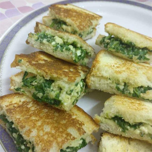 cooking tips make and feed kids spinach cheese sandwiches