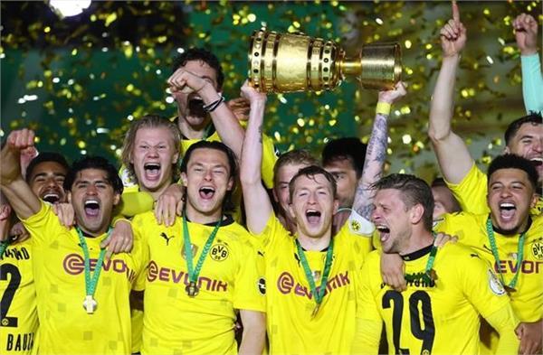 borussia dortmund  german cup final  title