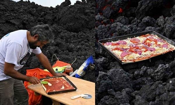 david garcia  pacaya volcano  pizza