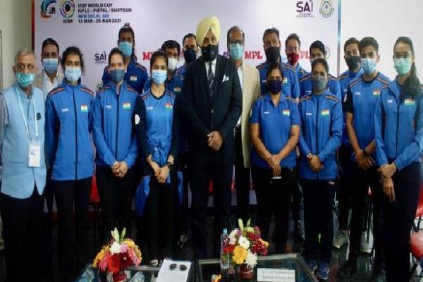 olympics  india  shooters  coaches  officials  corona vaccines