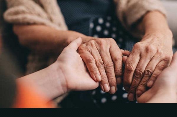 blind elderly  indian person  help