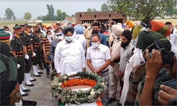 funeral of martyred soldier pargat singh
