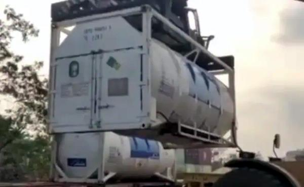 oxygen express carrying 718 tonnes of oxygen