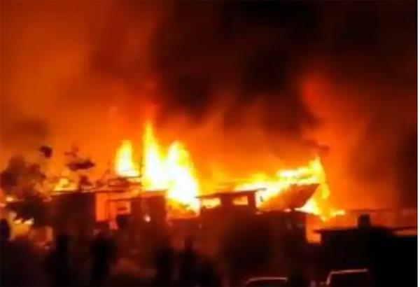 fire breaks out in several houses in noorbagh area of baramulla district