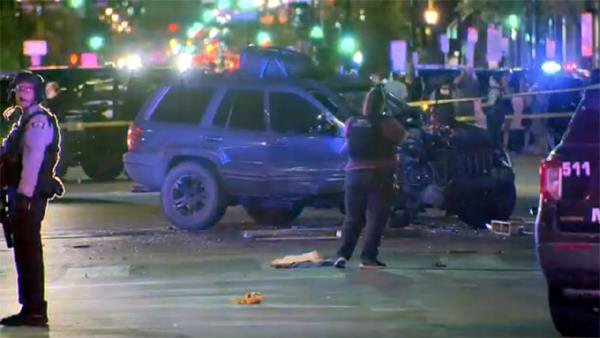 woman killed in car crash with protesters in us