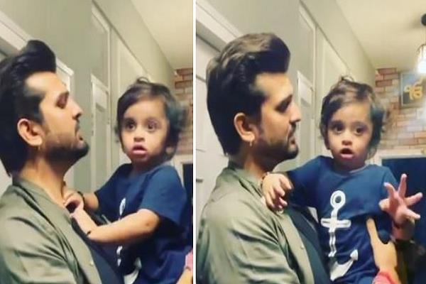 son redan was seen mixing in the tune of father yuvraj
