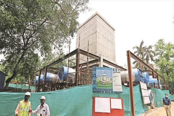 delhi 15 august smog tower coronavirus construction
