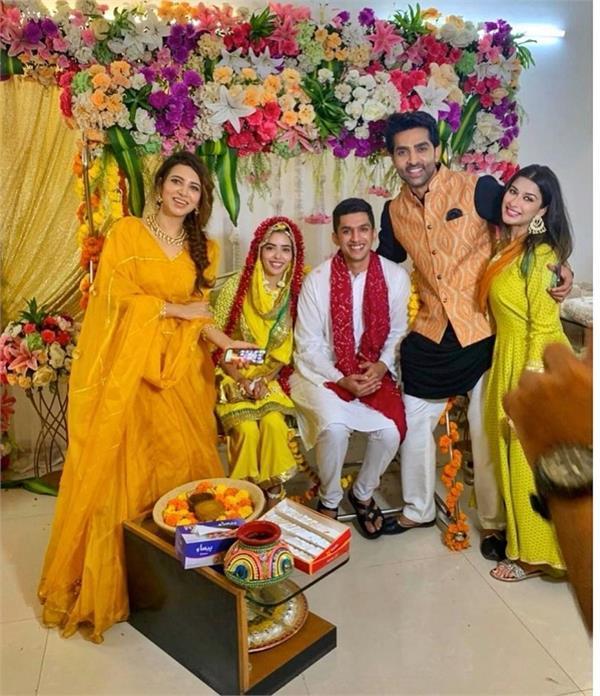 beautiful pictures divya drishti fame sana syed turmeric ceremony