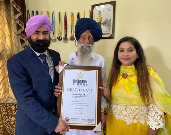 runner fauja singh world book of records honored