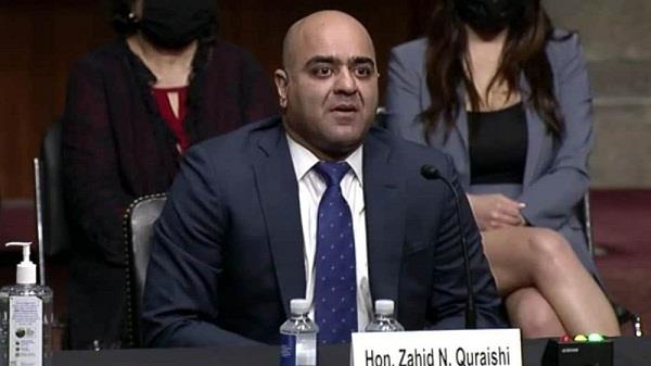 zahid qureshi federal judge us senate