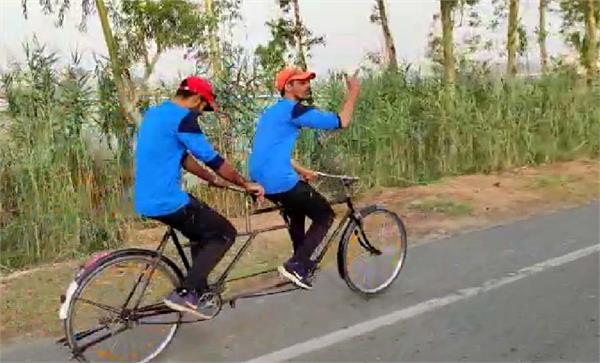 sri muktsar sahib 2 brothers tandem bicycle