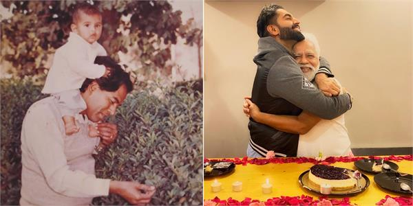 parmish verma shared pictures with his father