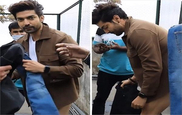 gurmeet choudhary changes his pants on camera in for